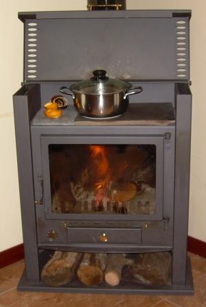 Calefacci N Con Estufa De Le A La Casa Calentita En